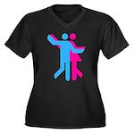 Simply Dance Women's Plus Size V-Neck Dark T-Shirt