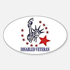 Disabled Veteran Sticker (Oval)