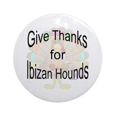 Thanks for Ibizan Ornament (Round)