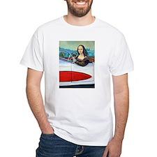 (Made USA) Pug Dog & Mona T-Shirt