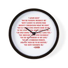 God quotes Wall Clock