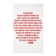 God quotes 3'x5' Area Rug