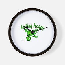 Feeling Froggy Wall Clock