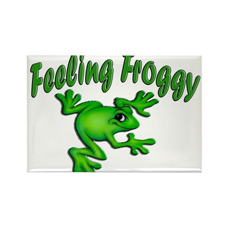 Feeling Froggy Rectangle Magnet (10 pack)