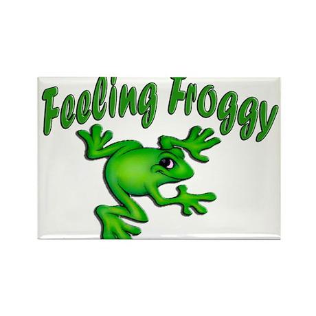 Feeling Froggy Rectangle Magnet