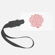 God quotes Luggage Tag