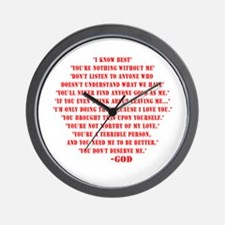 God quotes Wall Clock