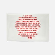 God quotes Rectangle Magnet