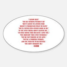 God quotes Sticker (Oval)