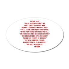 God quotes Wall Decal