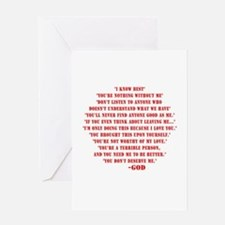 God quotes Greeting Card