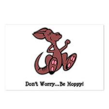 Be Hoppy Kangaroo Postcards (Package of 8)