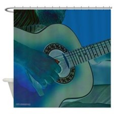 Acoustic Riffs Shower Curtain