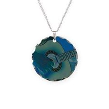 Acoustic Riffs Necklace Circle Charm