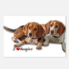 Two Beagles Postcards (Package of 8)