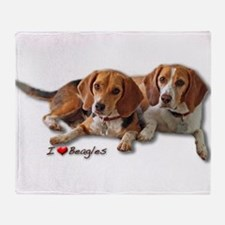 Two Beagles Throw Blanket