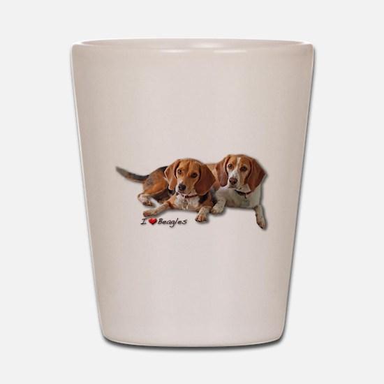 Two Beagles Shot Glass