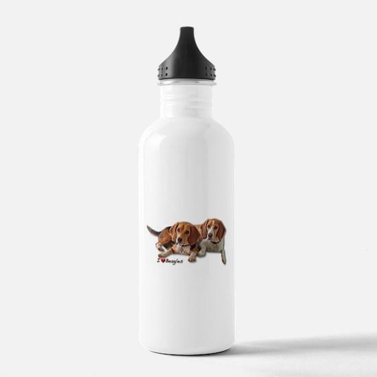 Two Beagles Water Bottle