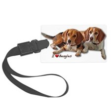 Two Beagles Luggage Tag