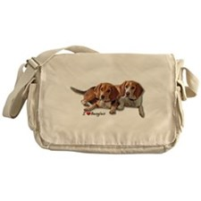 Two Beagles Messenger Bag