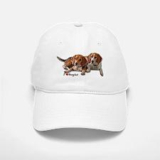 Two Beagles Baseball Baseball Cap
