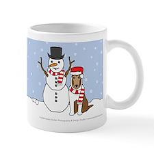 Sable Smooth Collie Winter Small Mug