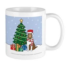 Sable Smooth Collie Xmas Tree Mug