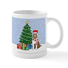 Sable Smooth Collie Xmas Tree Small Mug