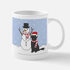 Flat Coated Retriever Winter Mug