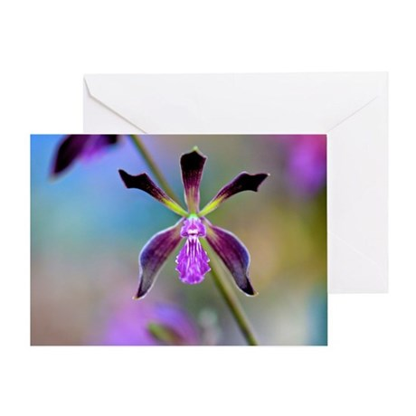 Impressionist Orchid Greeting Card