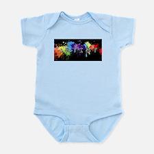 srtist paint platter Infant Bodysuit