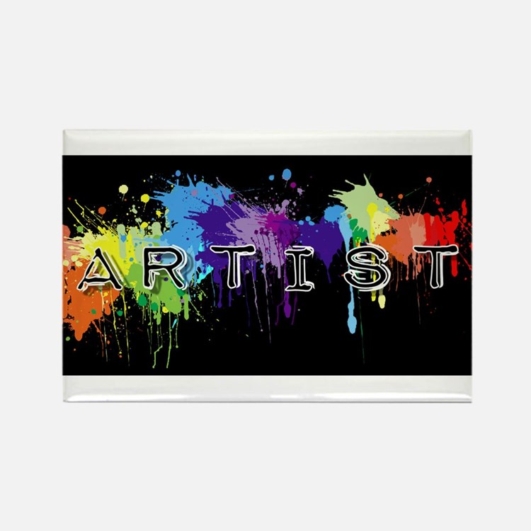srtist paint platter Rectangle Magnet