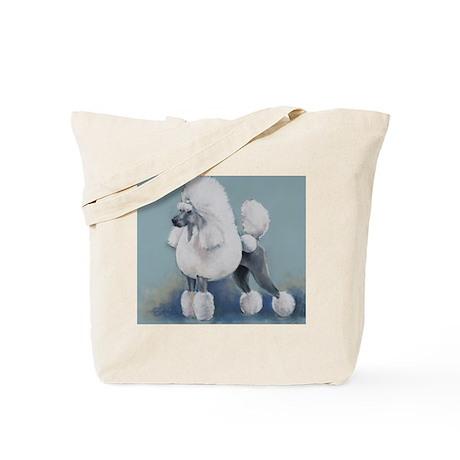 White Standard Poodle Tote Bag