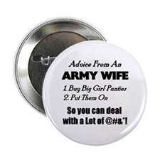 Advice Army Wife Button
