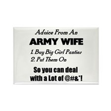 Advice Army Wife Rectangle Magnet