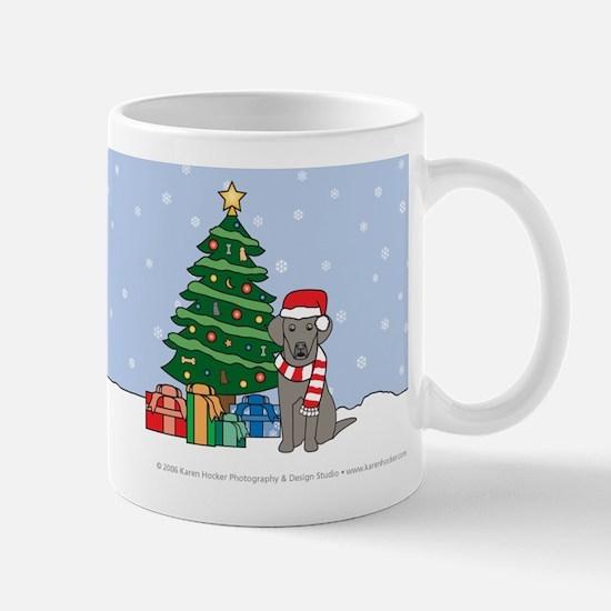 Weimaraner Xmas Tree Mug