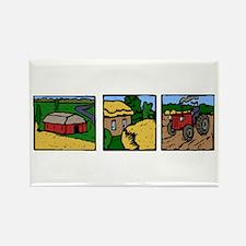 Farmland Triple Print Rectangle Magnet