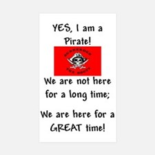 PartyPirate2a.jpg Sticker (Rectangle 10 pk)
