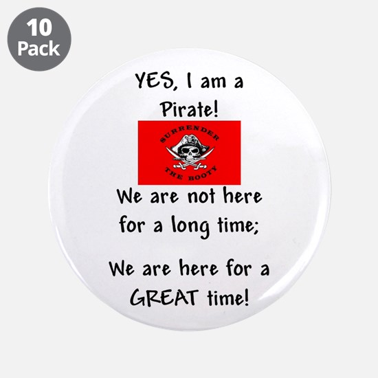 """PartyPirate2a.jpg 3.5"""" Button (10 pack)"""