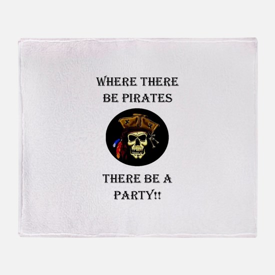 PartyPirate2a.jpg Throw Blanket