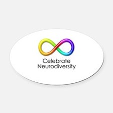 Celebrate Neurodiversity Oval Car Magnet