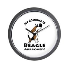 My Cooking is Beagle Approved! Kitchen Wall Clock