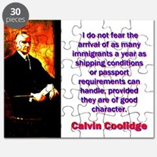 I Do Not Fear - Calvin Coolidge Puzzle