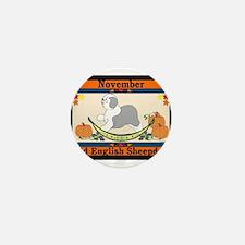 Old English Sheepdog Calendar Mini Button