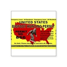 Bigfoot Hunting License Sticker