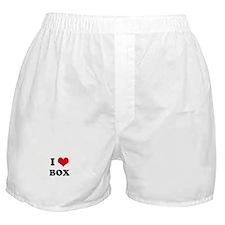 I HEART BOX  Boxer Shorts