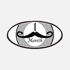 Mustache 1 Month Milestone Patches