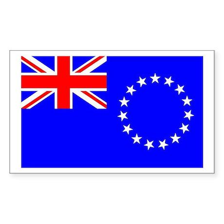 Cook Islands Rectangle Sticker