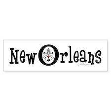 New Orleans Fleur Heart Bumper Bumper Sticker