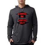 Coffee In Coffee Out Mens Hooded Shirt